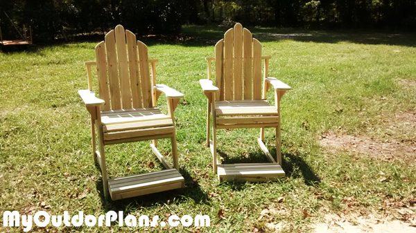"28 "" High Adirondack Chairs | MyOutdoorPlans | Free ..."