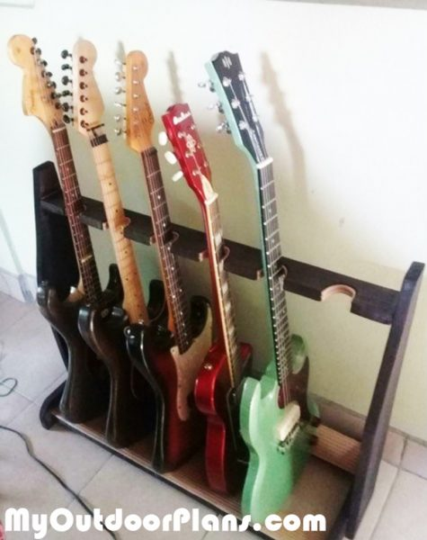 diy basic wood guitar stand myoutdoorplans free woodworking plans and projects diy shed. Black Bedroom Furniture Sets. Home Design Ideas