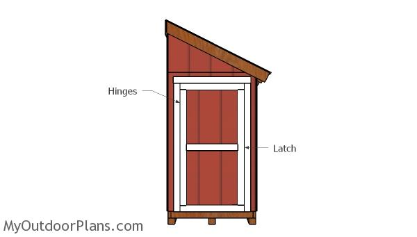 4x8 Bike Shed Door Plans