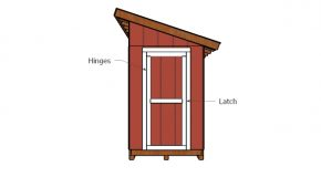 5×10 Lean to Shed Door Plans