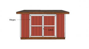 8×14 Lean to Shed Door Plans