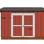 5×12 Pent Shed Doors Plans