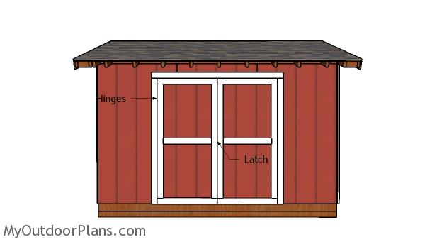 5x12 Pent Shed Doors Plans