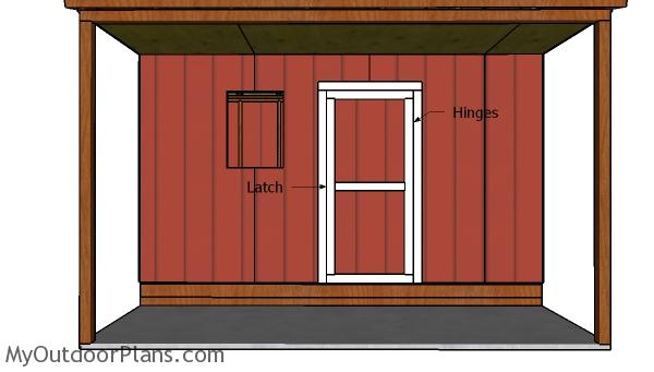Fitting the front door