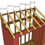 4×8 Attached Shed Roof Plans