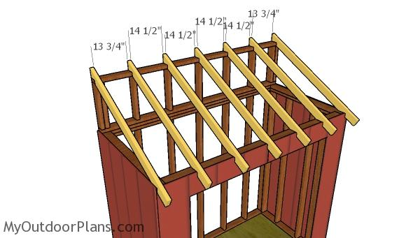 4x8 Attached Shed Roof Plans