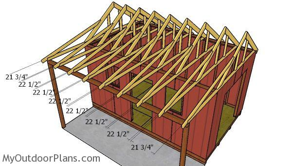 10x16 Shed With Porch Roof Plans Myoutdoorplans Free