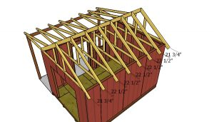 Fitting the trusses to the shed