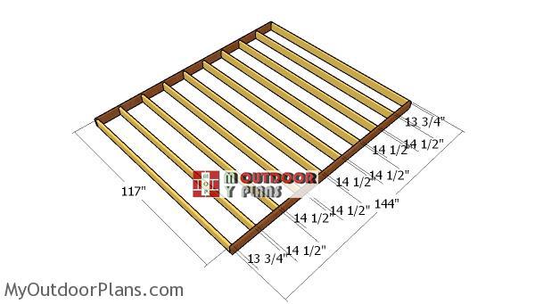 Floor-frame---10x12-shed