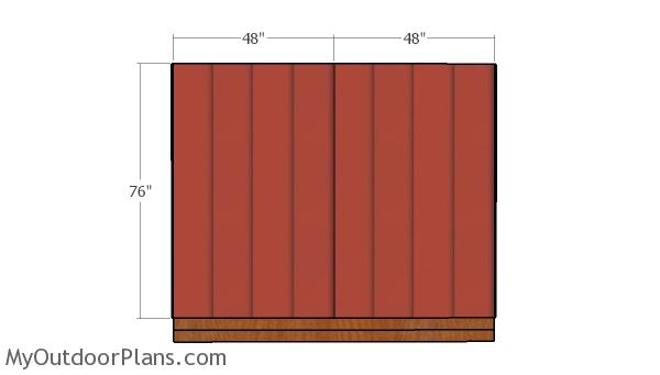 Front and back wall siding sheets