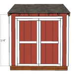 4×8 Attached Shed Doors Plans