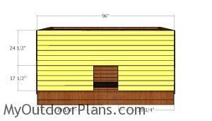 Front wall slats