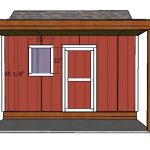 10×14 Shed with Porch Door Plans