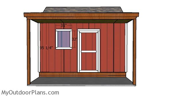 10x14 Shed with Porch Door Plans
