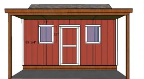 10×16 Shed with Porch Doors Plans