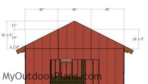 Large shed gable end panels