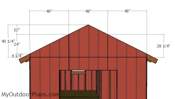 Large shed gable end panels