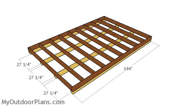 Large shed skids