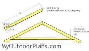 Large shed trusses