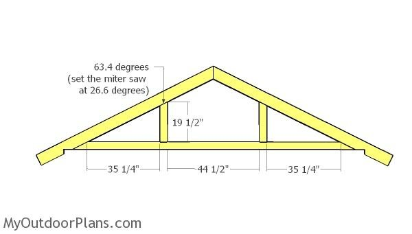 12x8 8x8 Gable Shed Roof Plans Myoutdoorplans Free