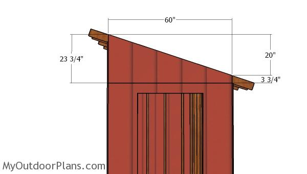 Lean to end panels
