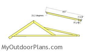 Porch rafter