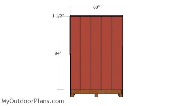 Side back wall siding panels