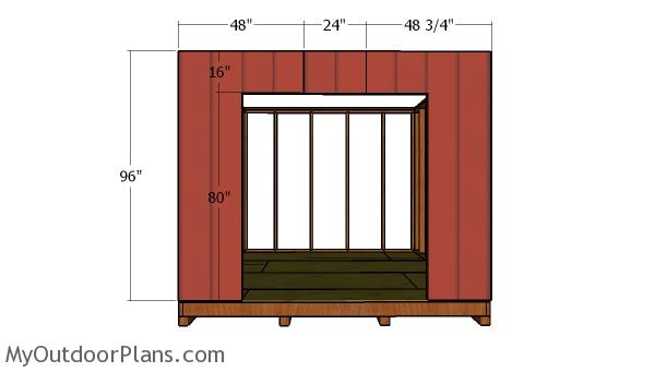 Side wall with door siding sheets