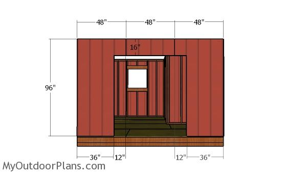 Side wall with doors siding panels