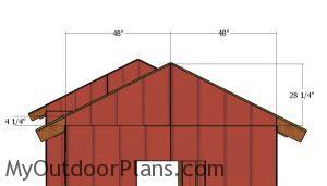 Small gable end panels