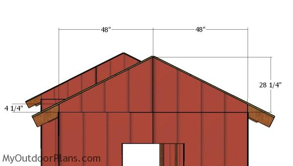 Small gable end panels