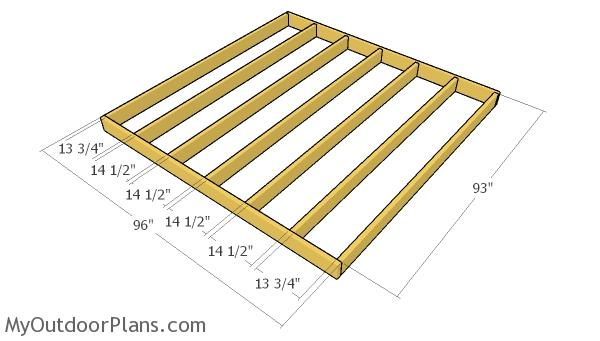 Small shed floor frame