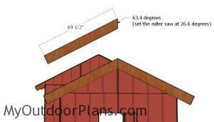Small shed gable end trims