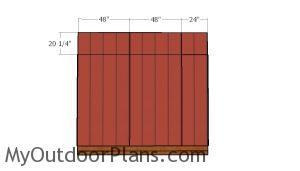 Top back wall siding panels