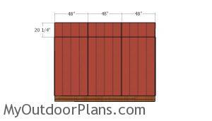 Top wall siding panels