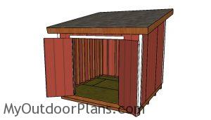 10x10 Lean to shed - Free DIY Plans