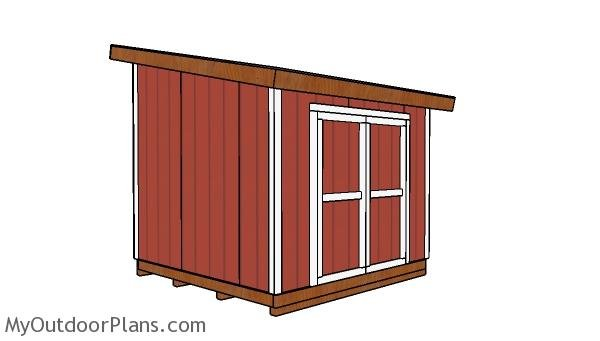 10×10 Lean to Shed – Free DIY Plans
