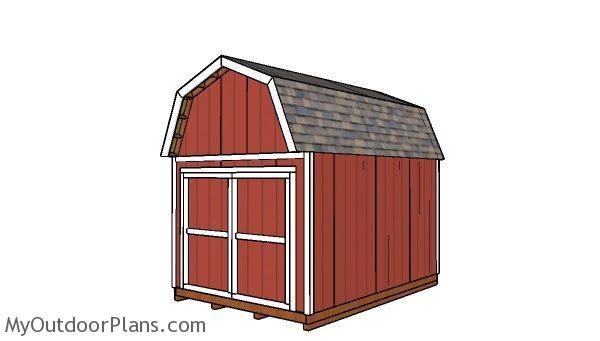 10x14 Gambrel Shed Free Diy Plans Myoutdoorplans