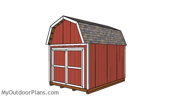 10x14 Gambrel Shed Plans