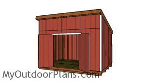 10x14 Lean to Shed - Free plans