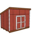 10×14 Lean to Shed – Free DIY Plans