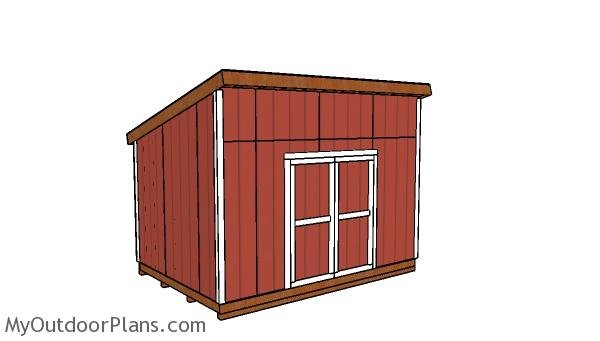 10x14 Lean to Shed - Free DIY Plans