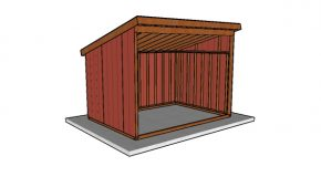10×14 Run In Shed Plans