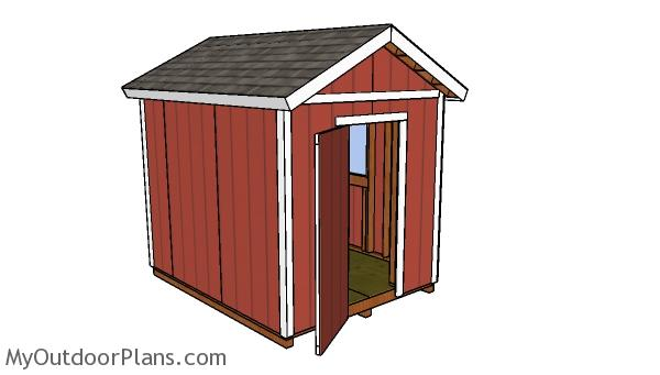 10x8 shed plans - Side view