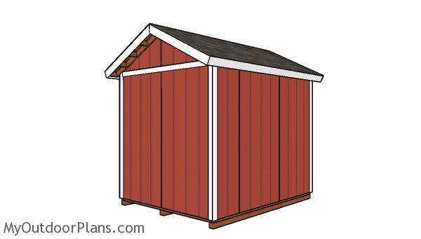 10x8 shed plans - back view