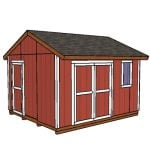 12×14 Gable Shed – Free DIY Plans