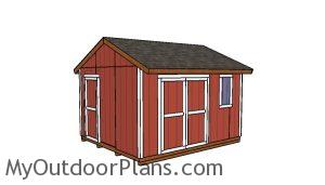 12x14 Gable Shed Plans