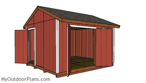 12x14 Gable Shed Plans Free