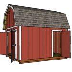 12×14 Gambrel Shed – Free DIY Plans