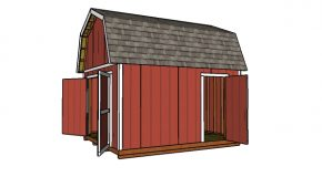 12×14 Gambrel Shed – Free DIY Plans